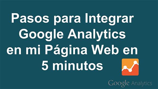 Integrar Google Analytics en mi Página Web