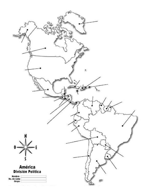 Mapa De Am�rica Con Divisi�n Pol�tica Sin Nombres Pulso Digital: America Mapa Sin Nombres At Infoasik.co