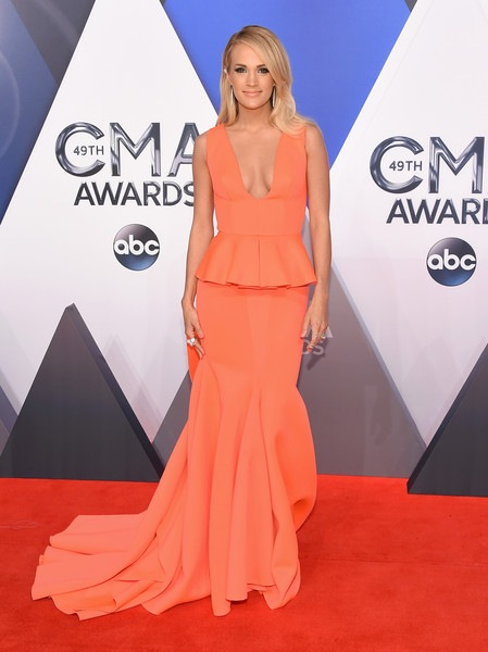 Carrie Underwood attends the 49th annual CMA Awards