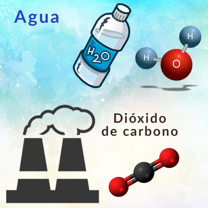 agua y dioxido carbono