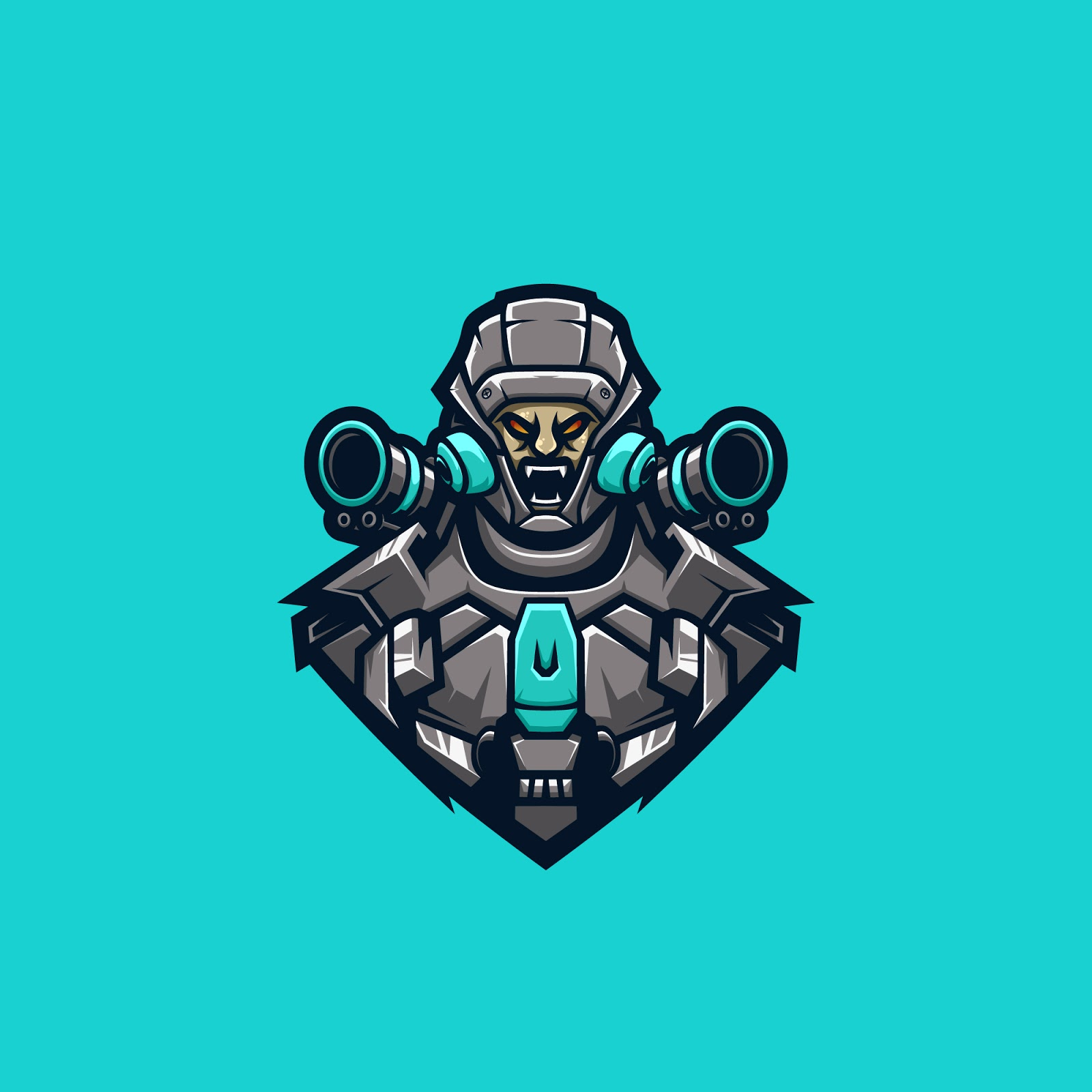 Cyborg Fighter Premium Logo Free Download Vector CDR, AI, EPS and PNG Formats