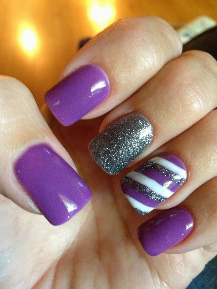 Easy purple Nail Art Photos Tutorial | Fashion Qe