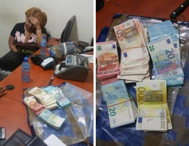 Apresan mujer en Los Mina con más de 100 mil euros en efectivo