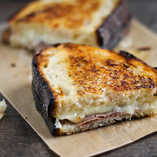Gruyere Grilled Cheese with Prosciutto And Mustard