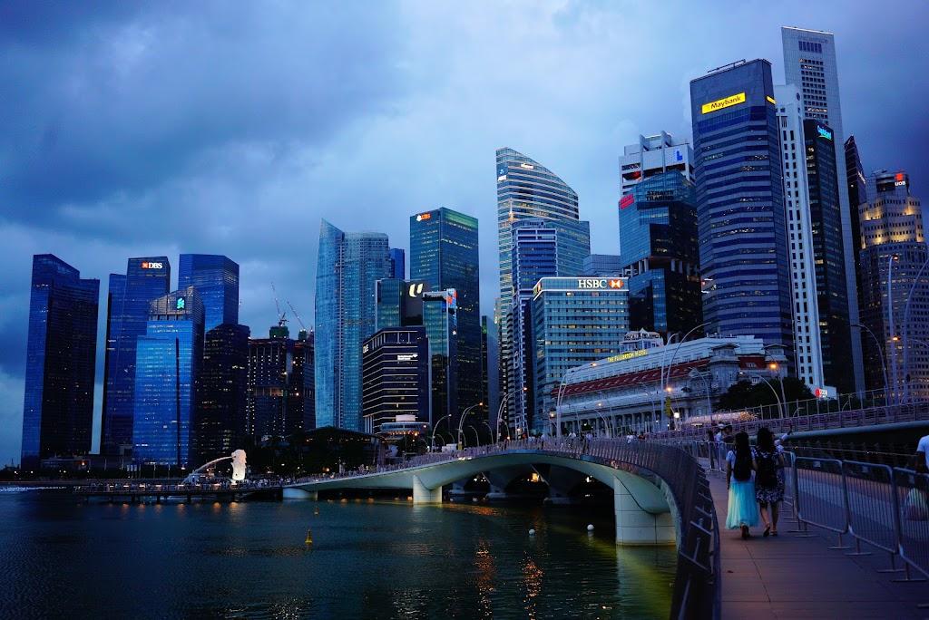Merlion promenade Singapore