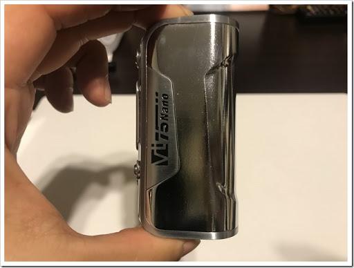 IMG 5891 thumb - 【DNA搭載モデル】Hcigar VT75 Nanoレビュー!小さくて可愛いお手軽ハイエンド機!立ち上がりの速さはさすがなので1台は持っておきたいMODのひとつ?