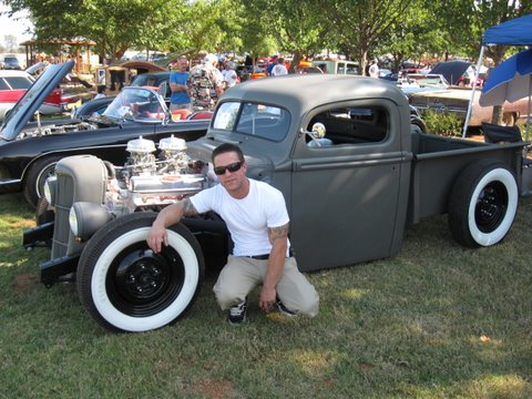Matt with his truck, scored another trophy at this show in Loma Rica CA.