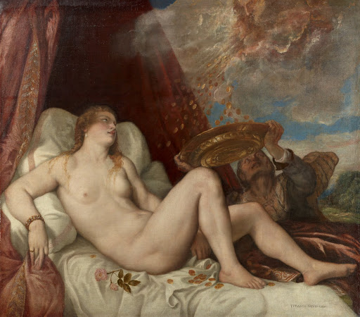 Titian and workshop: Danae.From The Museum of Fine Arts Houston Cloaked in Magnificent Opulence