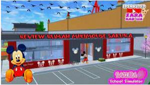 ID Rumah Micky Mouse di Sakura School Simulator Dapatkan Disini