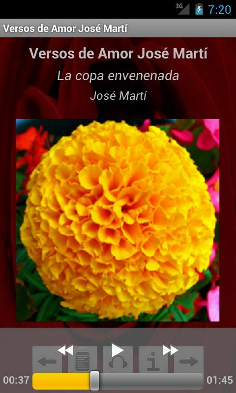 Versos de Amor José Martí - screenshot