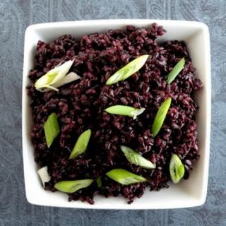 Floral Black Rice