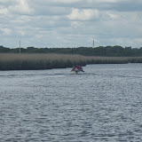Having been towed to deeper water by the ILB, the boat goes on its way up the Wareham Channel - 14 May 2014