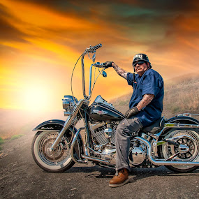 Monkey Bars 2 by Apollo Reyes - Transportation Motorcycles ( harley davidson, sky, bike, motorcycle, helmet,  )