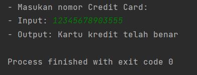 Java - Validasi Kartu Kredit Dengan Algoritma Luhn