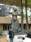 Homegoing Celebration at Louis Armstrong Park. Sonia Sanchez next to Mahalia Jackson statue, sculpted by Elizabeth Catlett. (Photos by Ellie Meek Tweedy.)