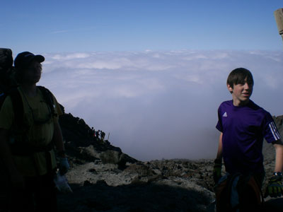 Wow--we\'re higher than the clouds