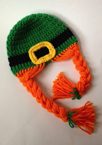 crocheted leprechaun hat