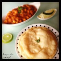 Chole Bhatura - Made with Self Raising flour...
