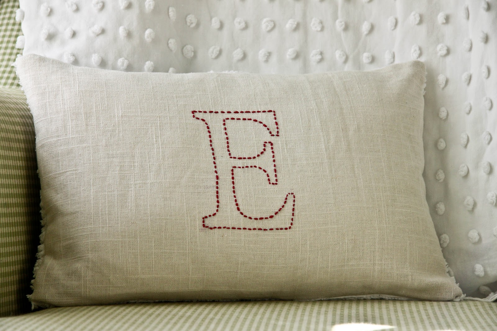 The Farmer's Nest: Embroidered pillow