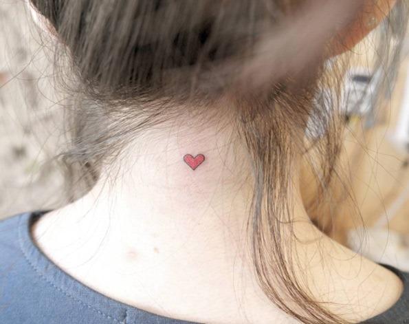 Esta linda coração vermelho