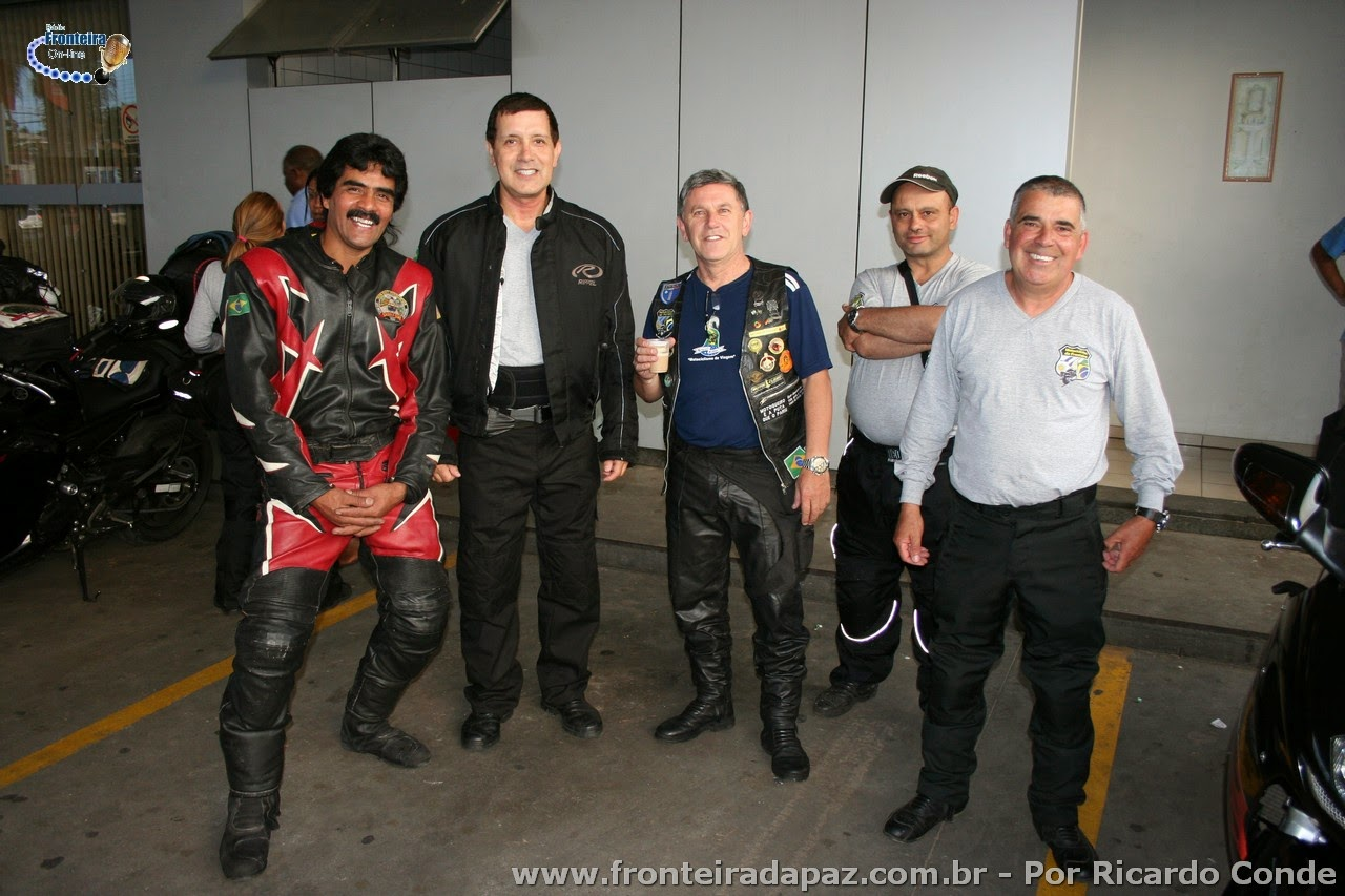 Grupo �Motociclistas da Fronteira� participam do 1� Abra��o da Fronteira-Oeste