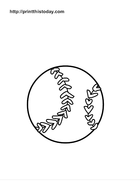 Base Ball Coloring Page