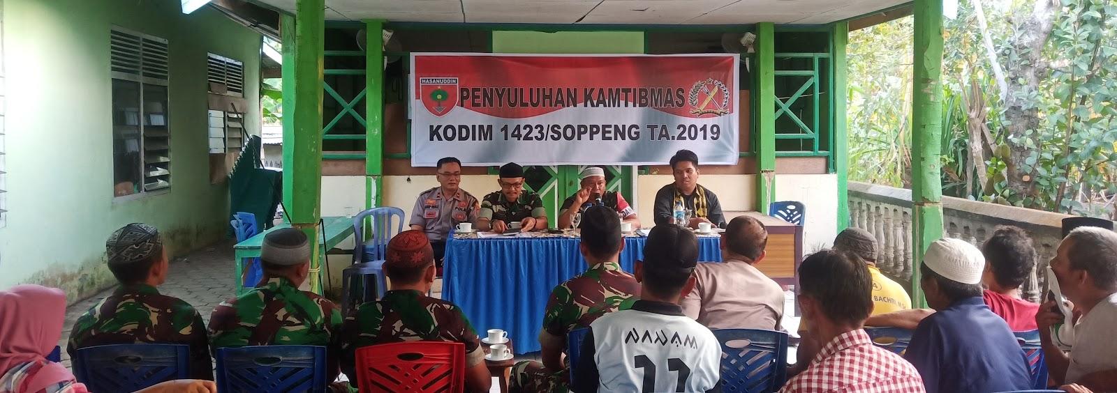 Satgas TMMD 106 Tahun 2019 Soppeng Gelar Penyuluhan Hukum Dan Kamtibmas Di Desa Patampanua