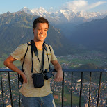 Andrew & view of Interlaken in Grindelwald, Bern, Switzerland
