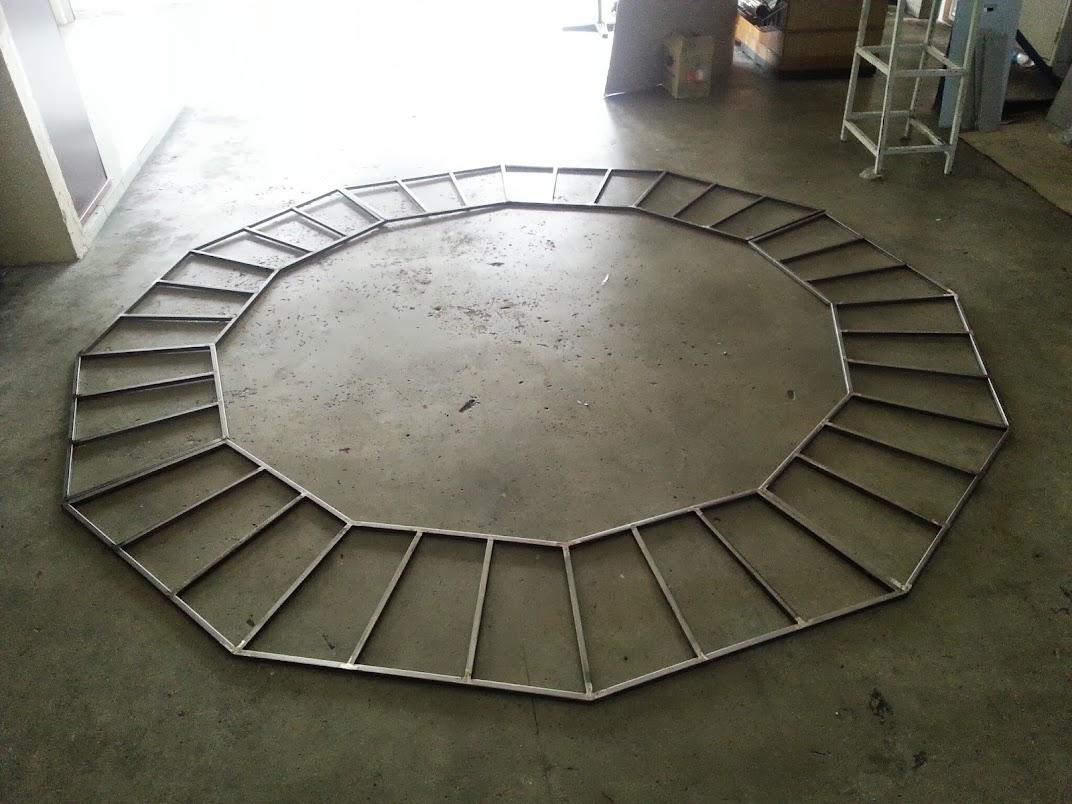 round hung rack frame