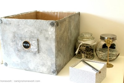 Faux Galvanized Finish with Tin Foil via homework  carolynshomework (3)[7]