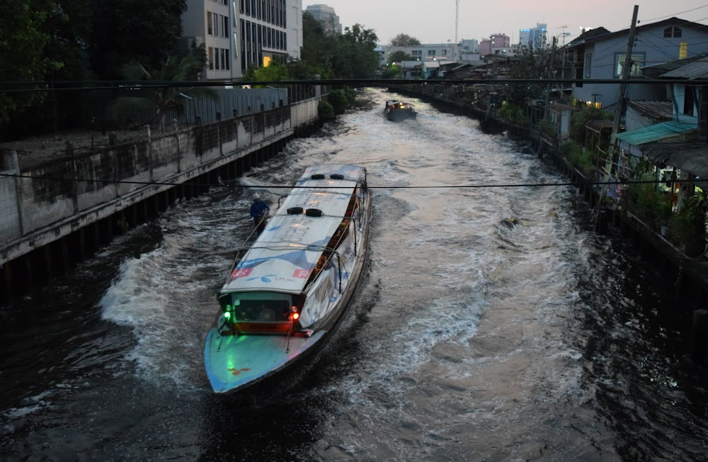 canal taxi boats plying the waters