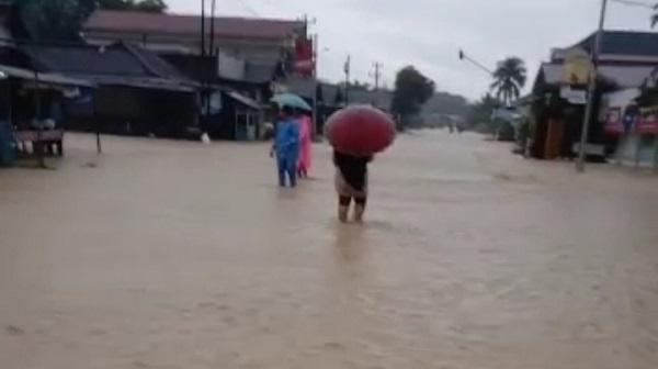 Sejumlah Kecamatan di Tanah Laut dilaporkan terendam banjir