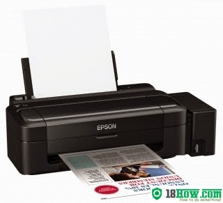 How to reset flashing lights for Epson L1800 printer