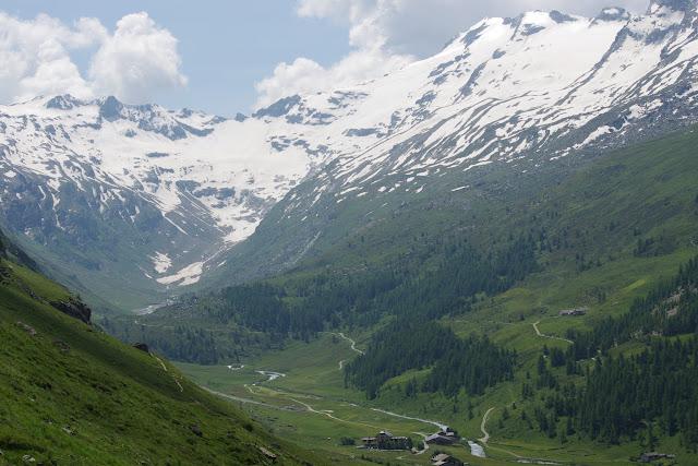 Le Val Fex depuis Marmorè, 2200 m ; Curtins au premier plan (Engadine, Grisons, CH). 11 juillet 2013. Photo : J.-M. Gayman