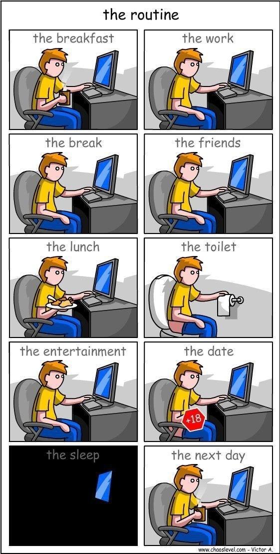 The Routine Cartoon