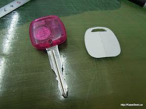 以前より気に入っていないのですが、鍵がジェリービーンズ見たくピンク色(T_T)