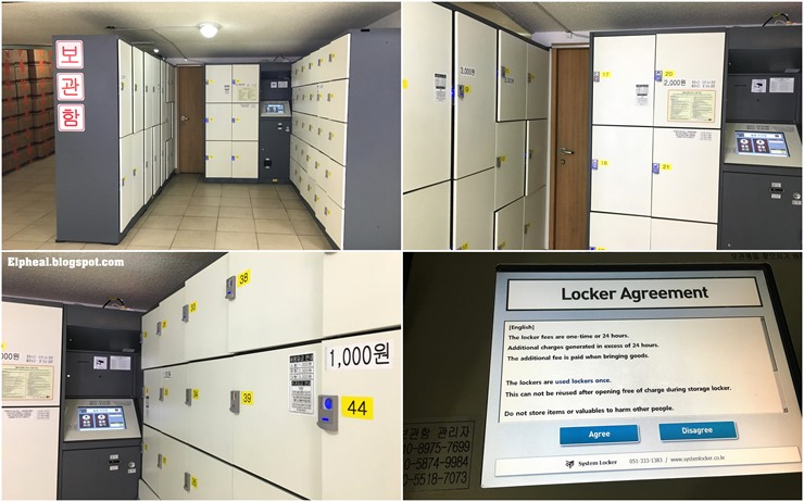 bus terminal lockers