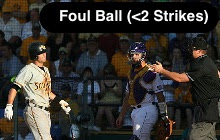 Foul Ball (Less Than 2 Strikes)