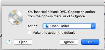 You inserted a blank DVD