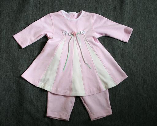 Burda 12-2006-141: Baby dress w/pants (french terry)