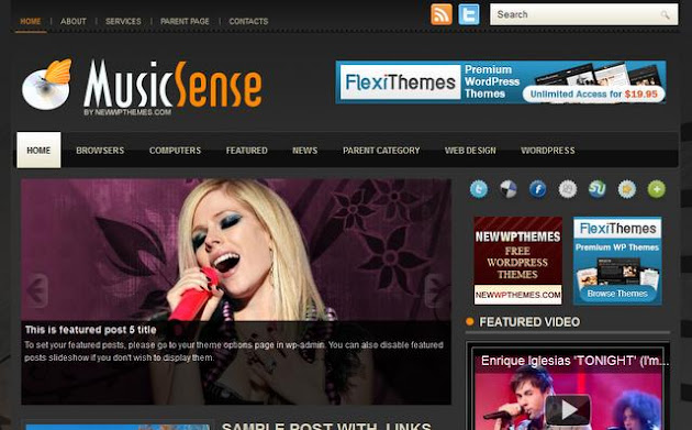 Music Sense WordPress Theme