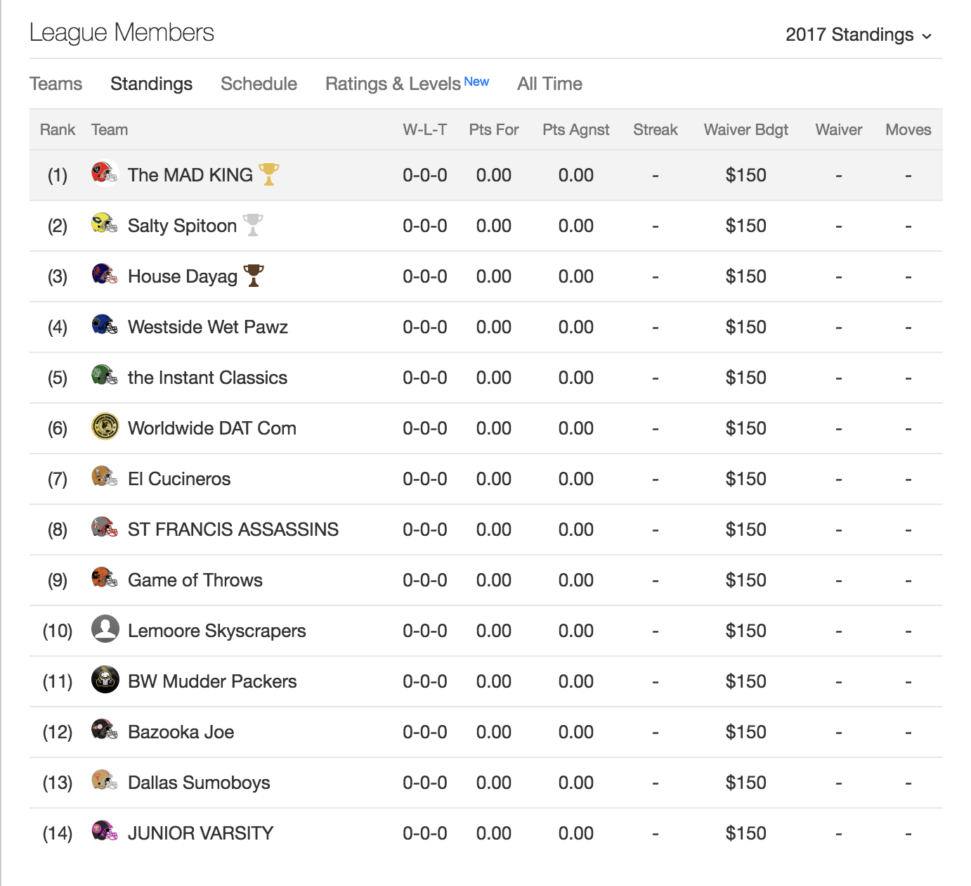 Can I import specific data from my Yahoo Fantasy Football
