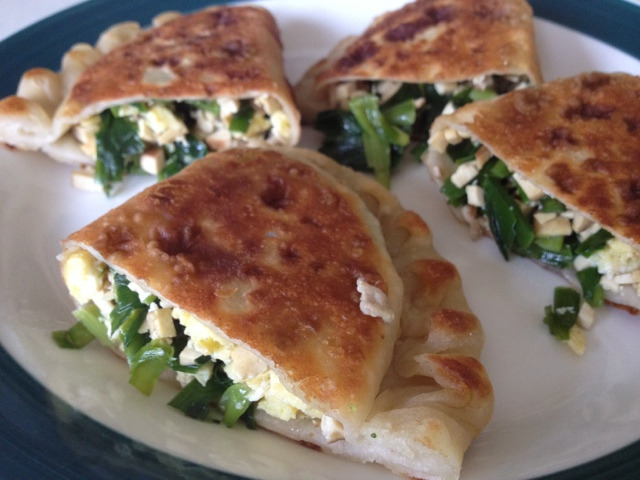 Chinese chive turnovers ~ Run Fast Eat Lots