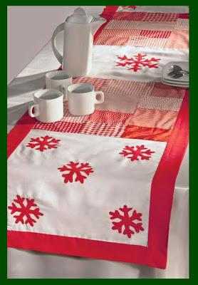 Como hacer un camino de mesa con motivos navide os camino - Como hacer motivos navidenos ...