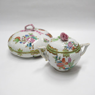 Herend Lidded Dish & Sugar Bowl