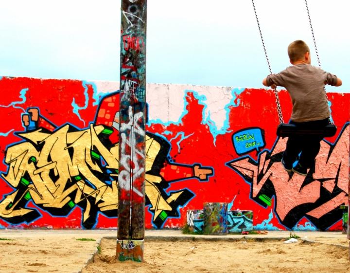 Scorcio del muro di Berlino di Martuzza