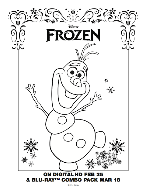 Olaf Coloring Sheet Frozen