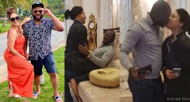 Olakunle Churchill reacts as his ex-wife Tonto Dikeh's new man sets the internet ablaze [Photo]