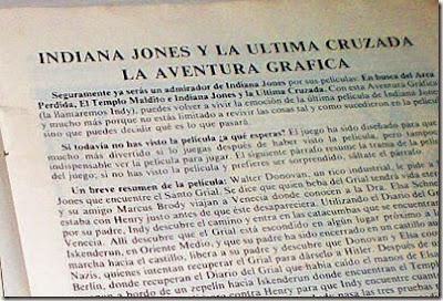 Texto Indiana Jones