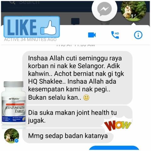 Testimoni Advance Joint Health Tablet